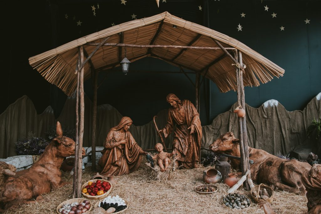 Nativity decor scene